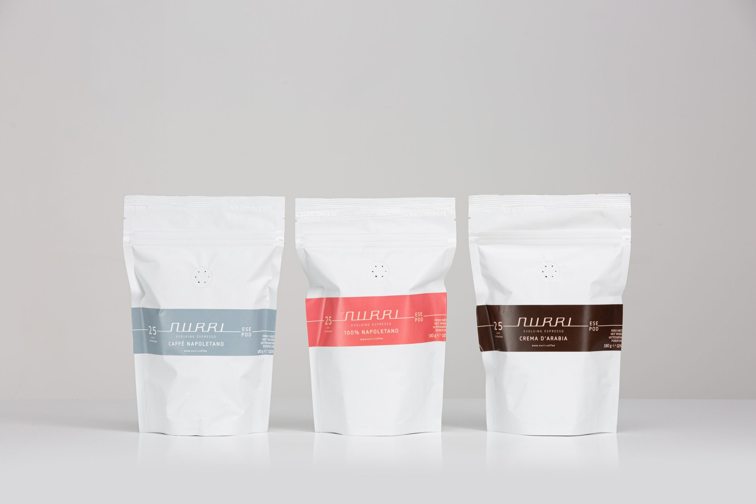 Nurri coffee blends napoletano arabia ESE POD 180g