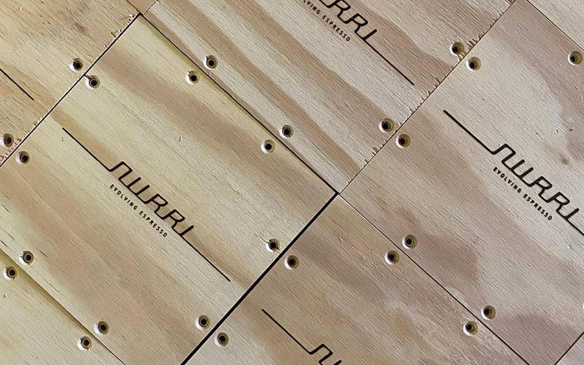 Nurri evolving espresso wooden squares large